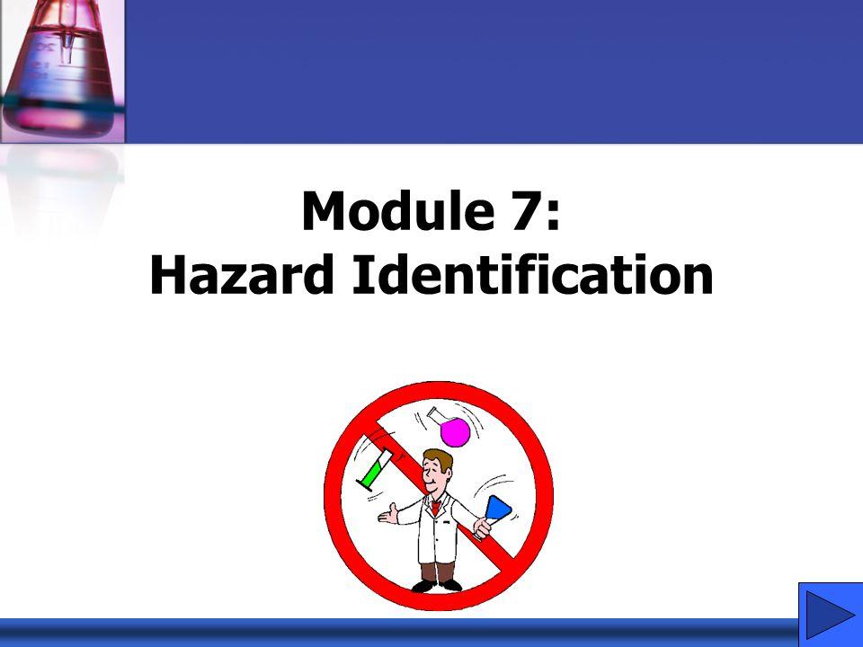 Module 7: Hazard Identification