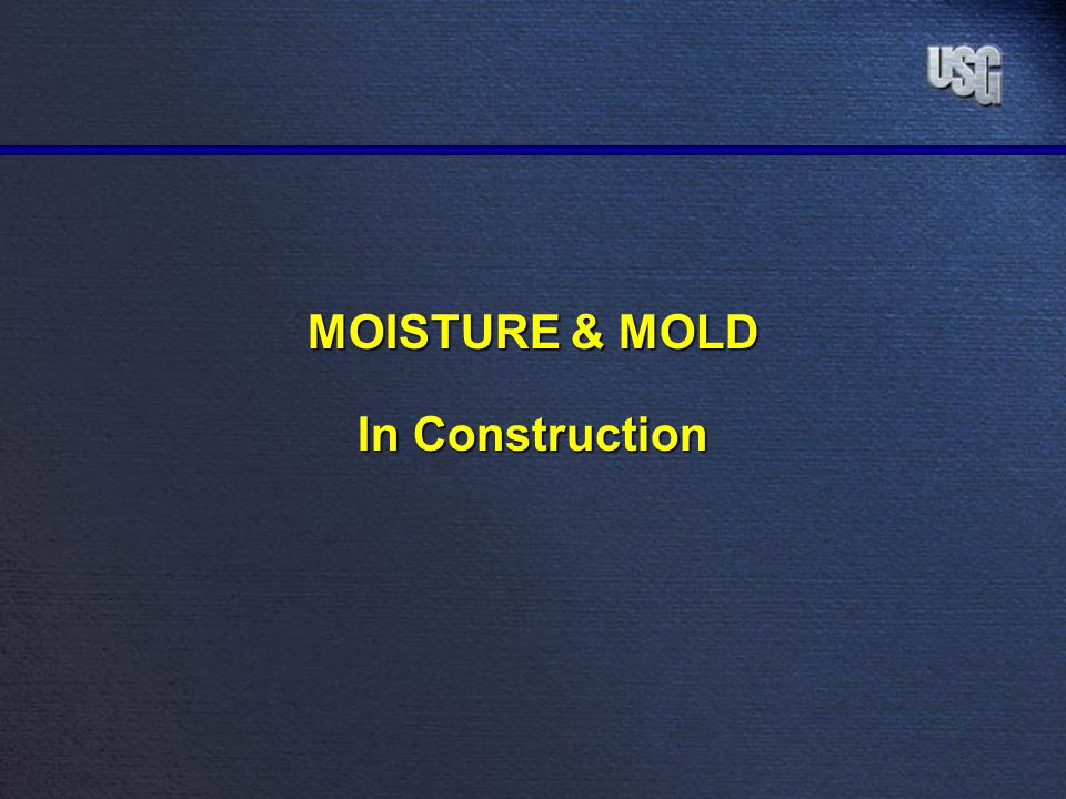 MOISTURE & MOLD In Construction