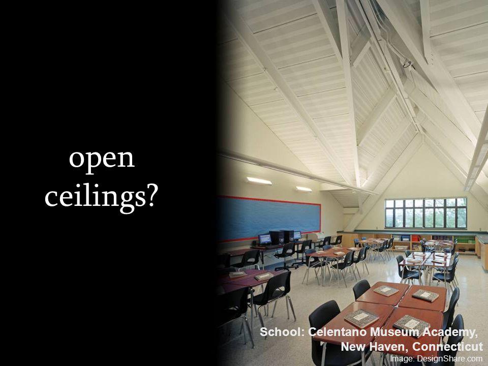 open ceilings? School: Celentano Museum Academy, New Haven, Connecticut Image: DesignShare.com