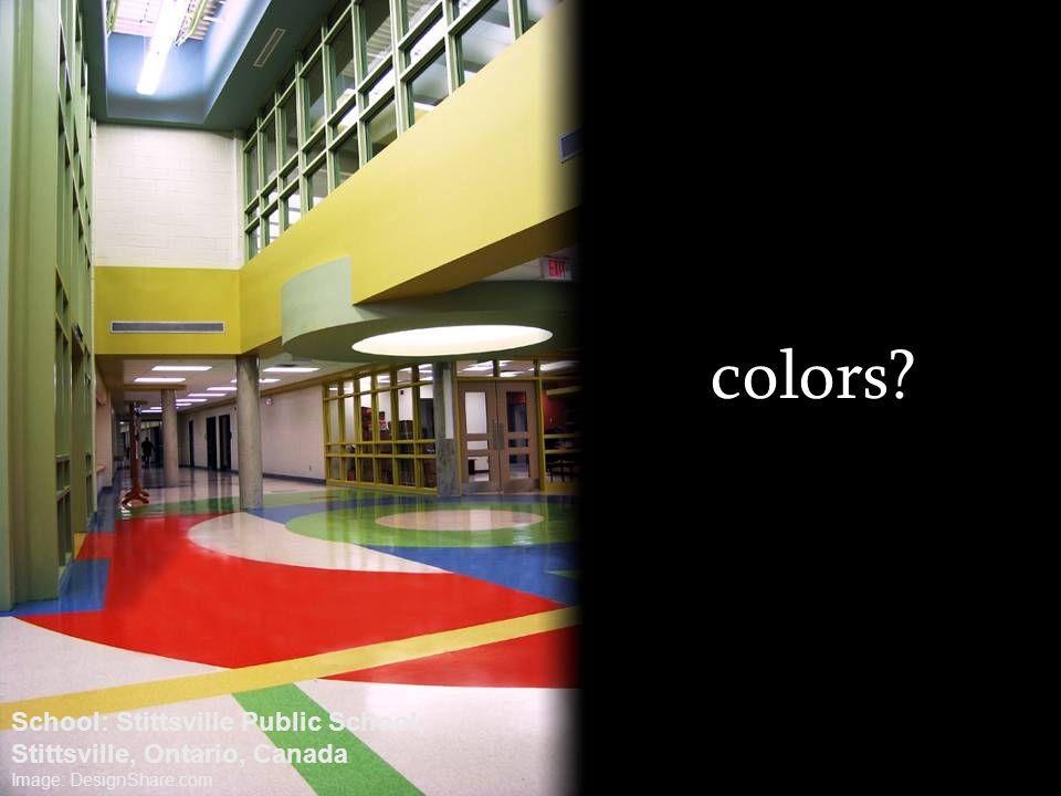 colors? School: Stittsville Public School, Stittsville, Ontario, Canada Image: DesignShare.com