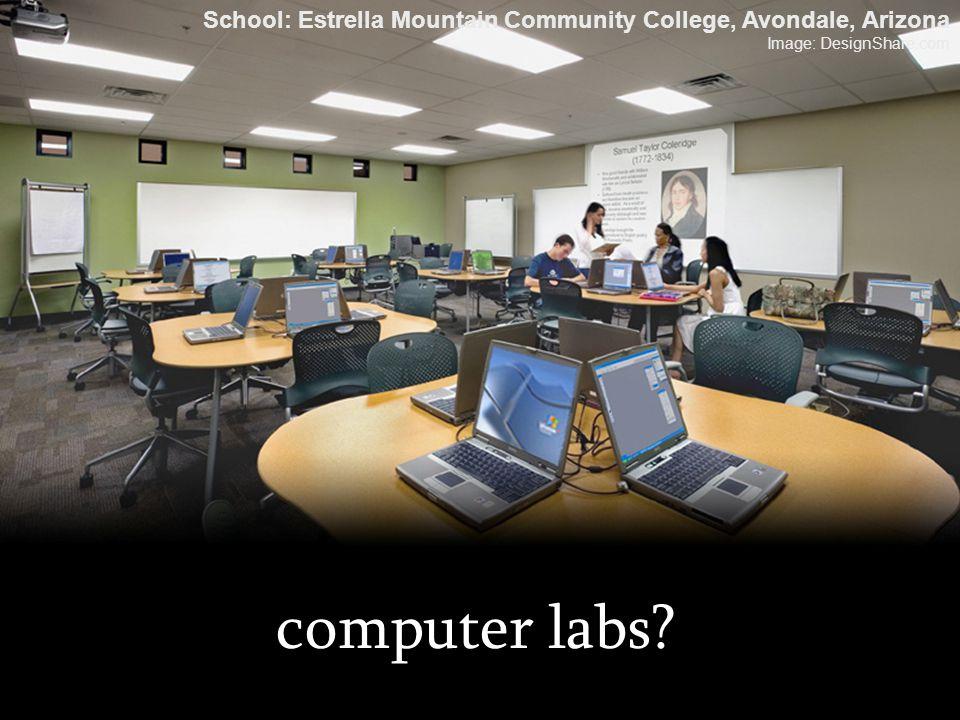 computer labs? School: Estrella Mountain Community College, Avondale, Arizona Image: DesignShare.com
