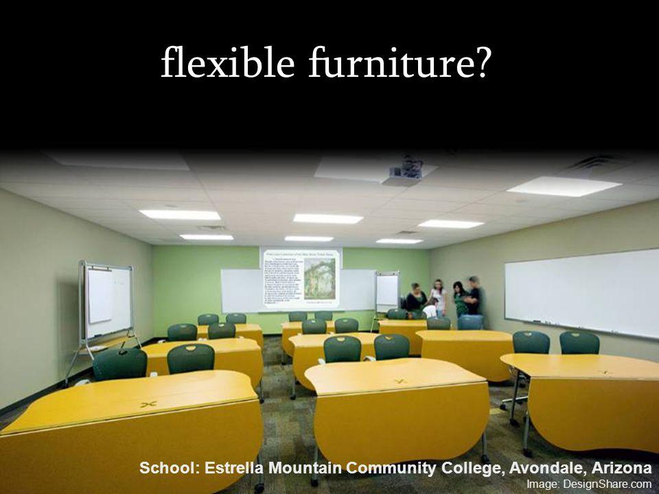 flexible furniture? School: Estrella Mountain Community College, Avondale, Arizona Image: DesignShare.com