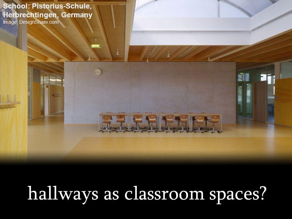 hallways as classroom spaces? School: Pistorius-Schule, Herbrechtingen, Germany Image: DesignShare.com