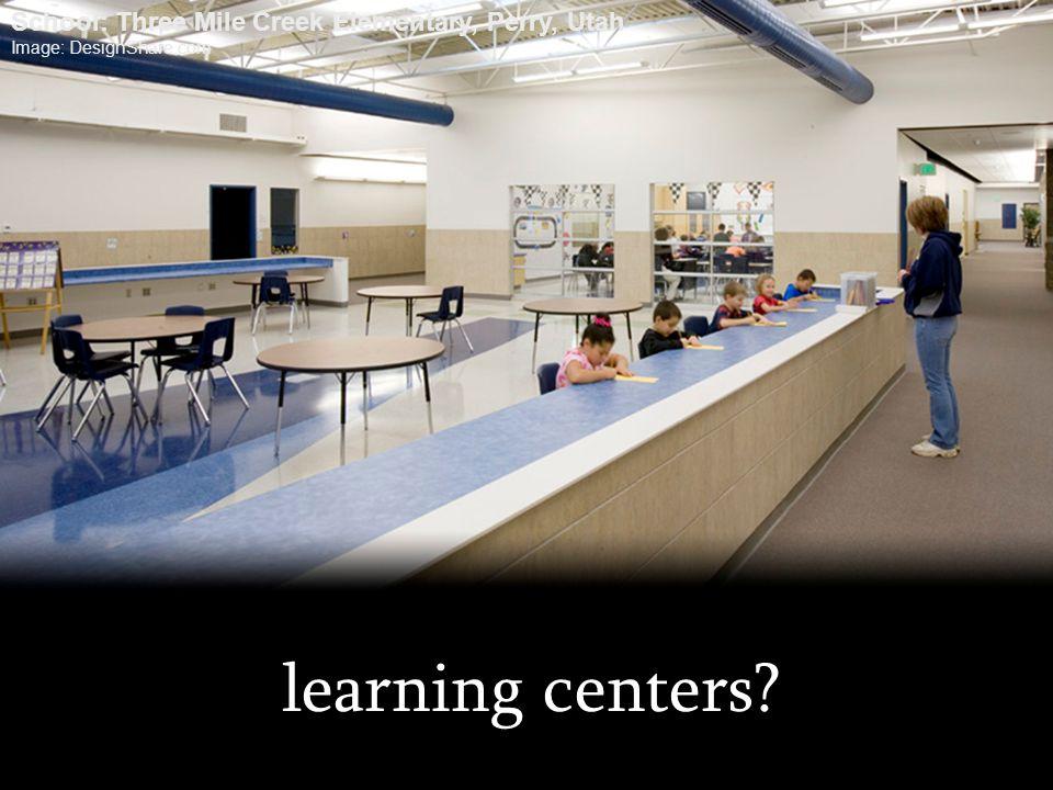 learning centers? School: Three Mile Creek Elementary, Perry, Utah Image: DesignShare.com