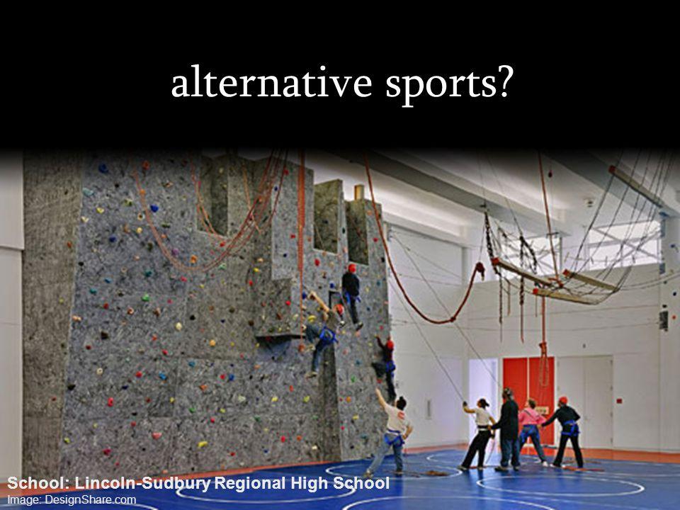 alternative sports? School: Lincoln-Sudbury Regional High School Image: DesignShare.com