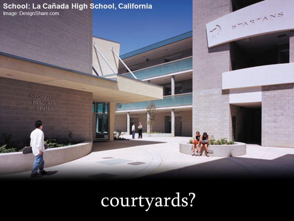 courtyards? School: La Cañada High School, California Image: DesignShare.com