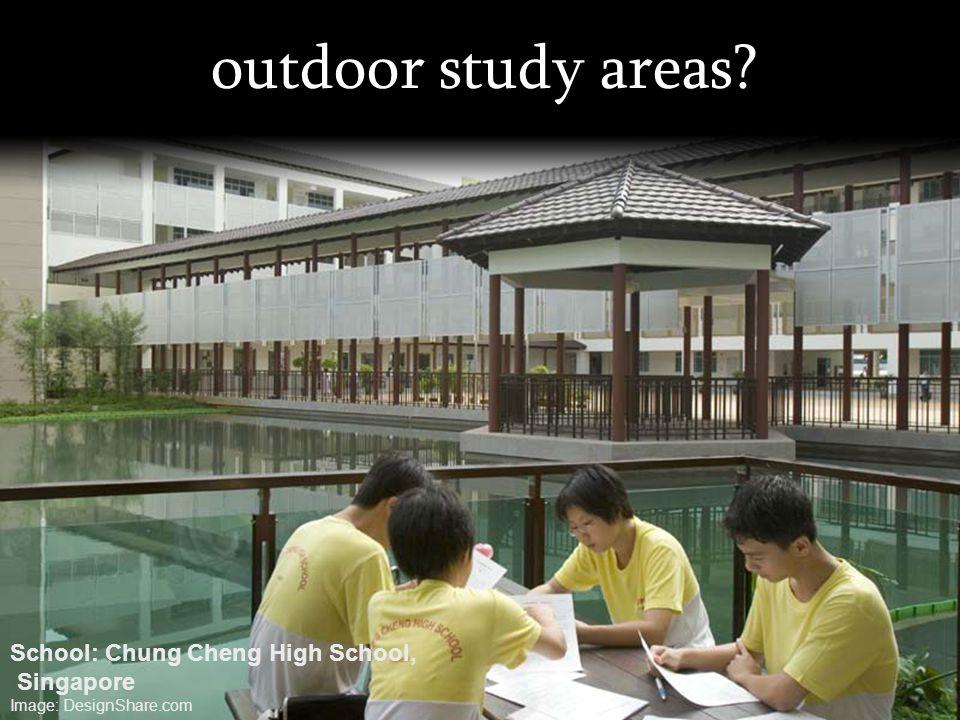 outdoor study areas? School: Chung Cheng High School, Singapore Image: DesignShare.com