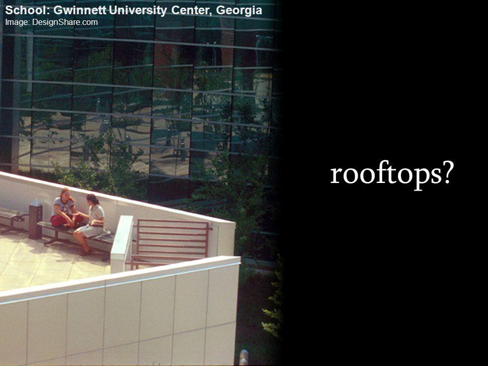 rooftops? School: Gwinnett University Center, Georgia Image: DesignShare.com