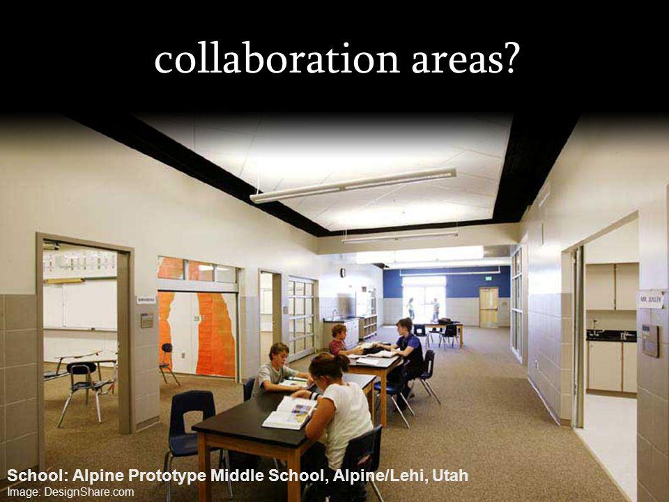 collaboration areas? School: Alpine Prototype Middle School, Alpine/Lehi, Utah Image: DesignShare.com