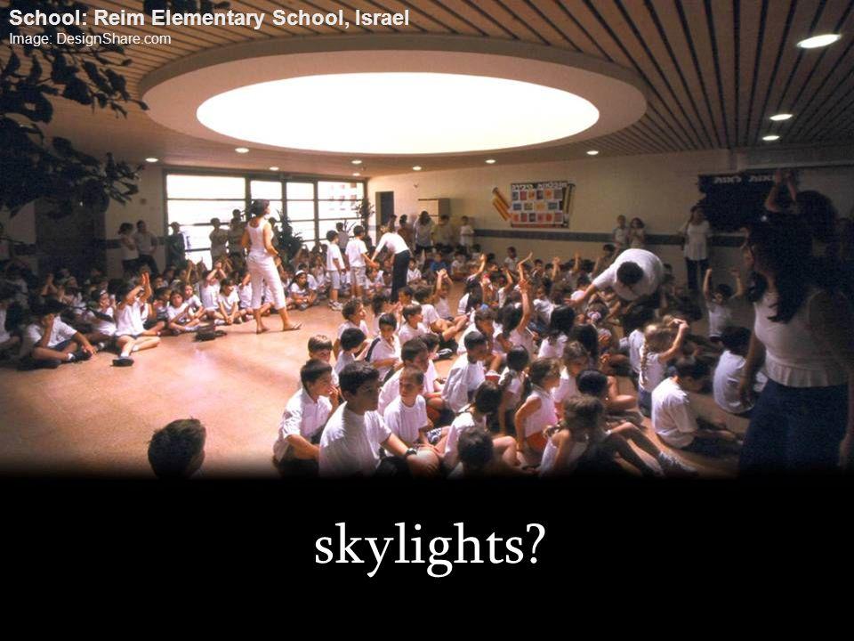 skylights? School: Reim Elementary School, Israel Image: DesignShare.com