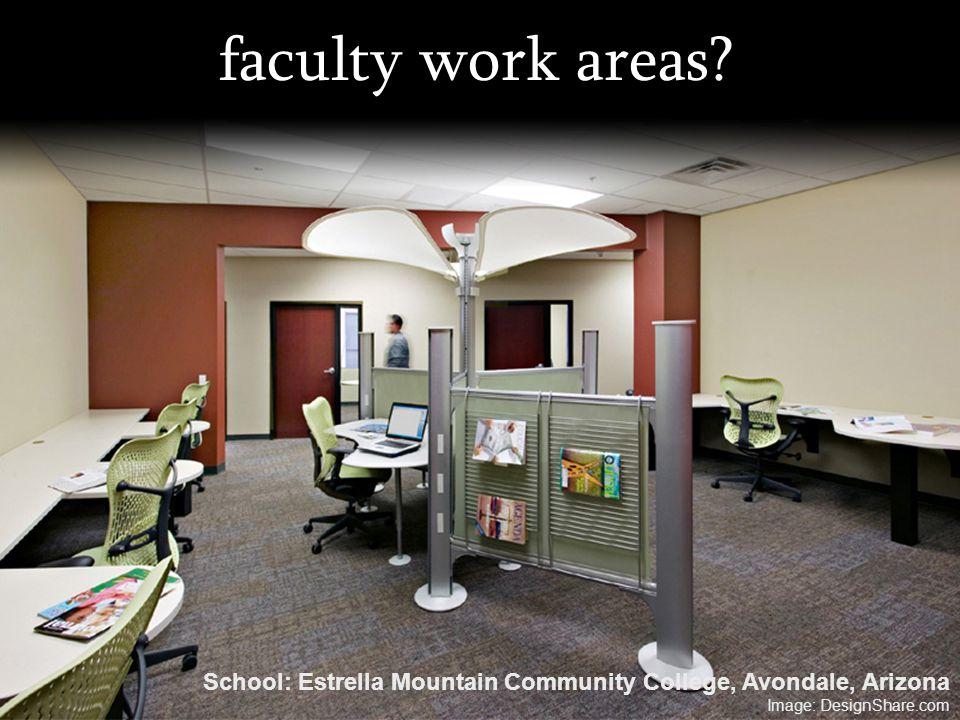 faculty work areas? School: Estrella Mountain Community College, Avondale, Arizona Image: DesignShare.com