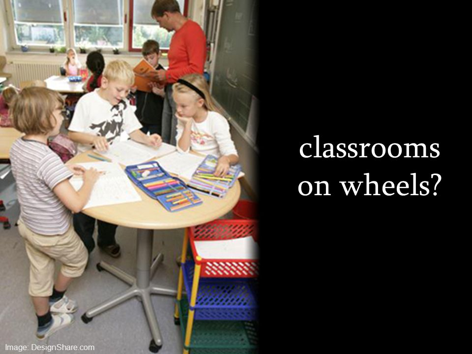 classrooms on wheels? Image: DesignShare.com