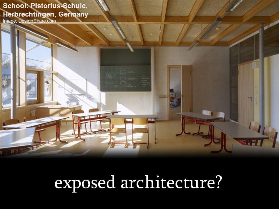 exposed architecture? School: Pistorius-Schule, Herbrechtingen, Germany Image: DesignShare.com