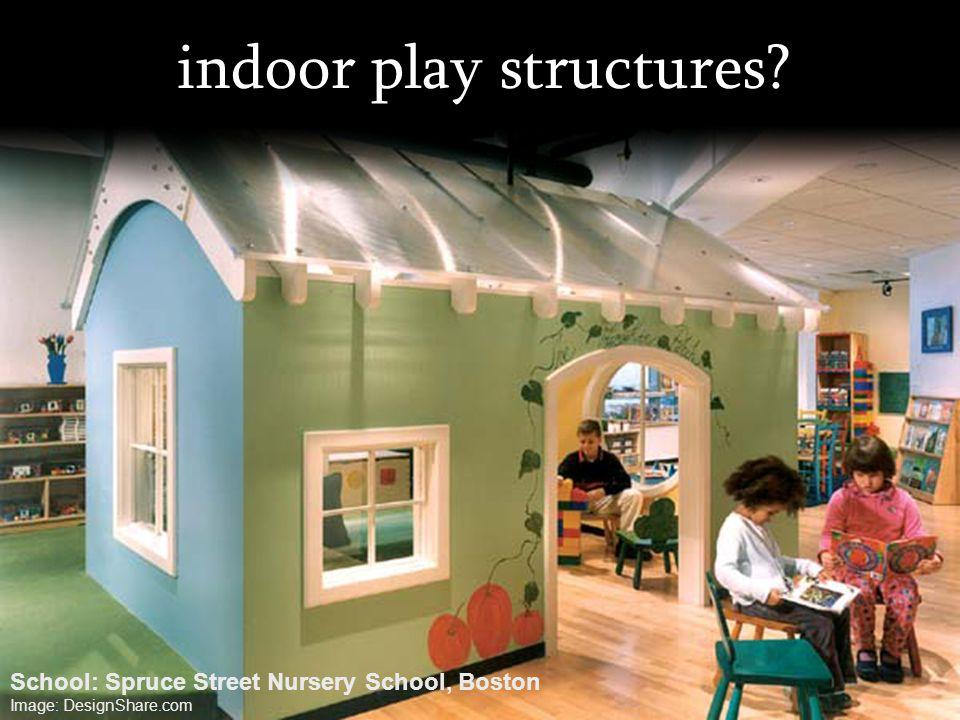 indoor play structures? School: Spruce Street Nursery School, Boston Image: DesignShare.com
