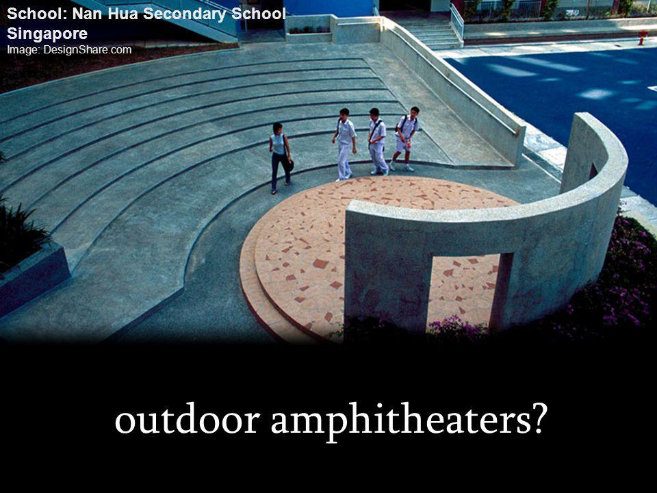 outdoor amphitheaters? School: Nan Hua Secondary School Singapore Image: DesignShare.com