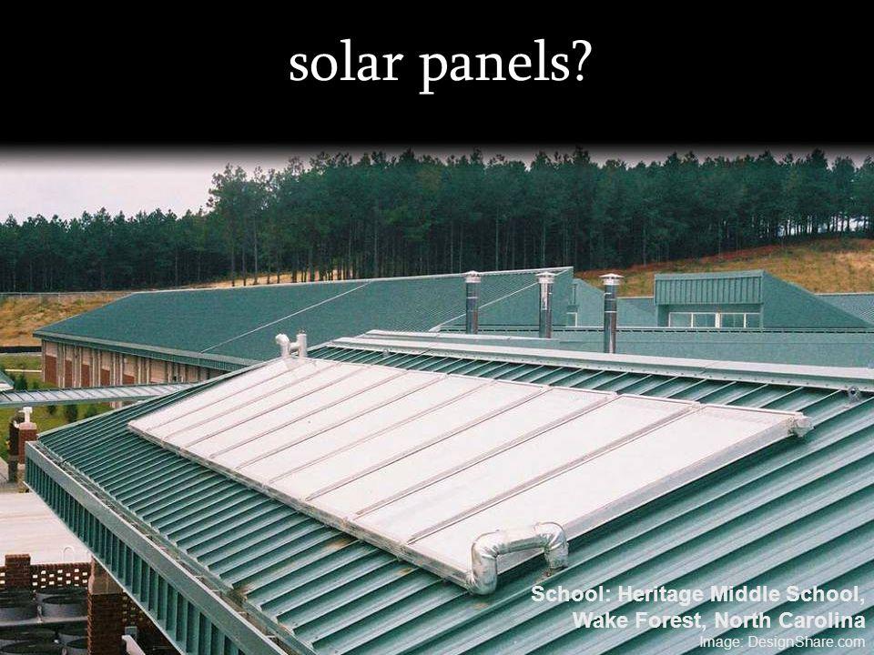 solar panels? School: Heritage Middle School, Wake Forest, North Carolina Image: DesignShare.com