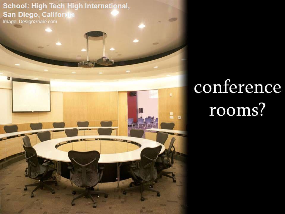 conference rooms? School: High Tech High International, San Diego, California Image: DesignShare.com