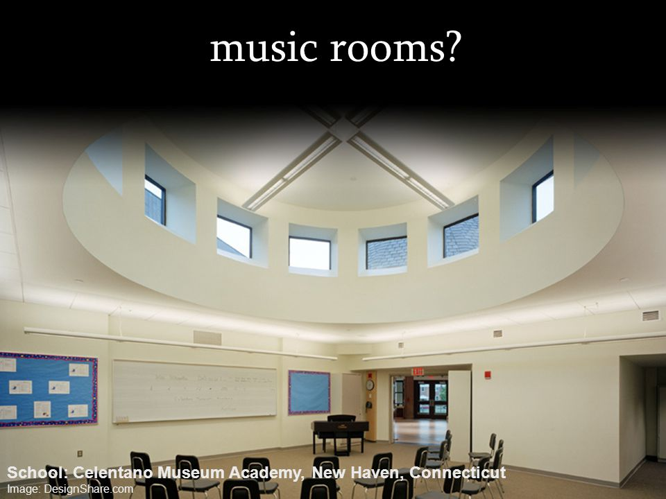 music rooms? School: Celentano Museum Academy, New Haven, Connecticut Image: DesignShare.com