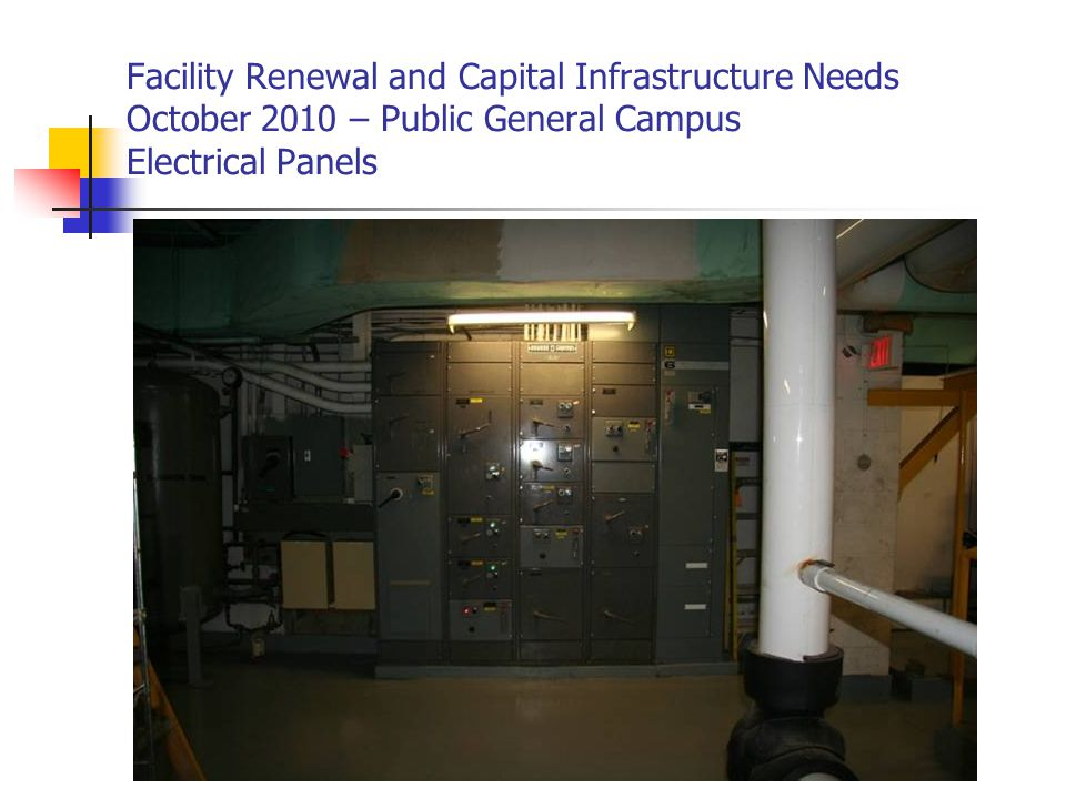 Facility Renewal and Capital Infrastructure Needs October 2010 – Public General Campus Electrical Panels