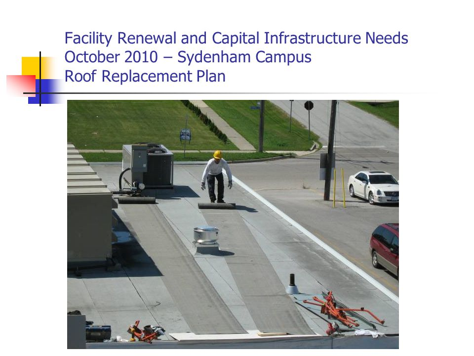 Facility Renewal and Capital Infrastructure Needs October 2010 – Sydenham Campus Deteriorated/ Cracked Piping all located in brick pipe chase