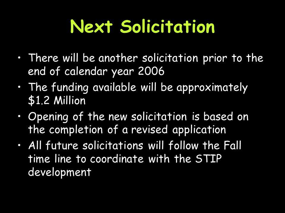 Next Steps Development of a statewide outreach program.