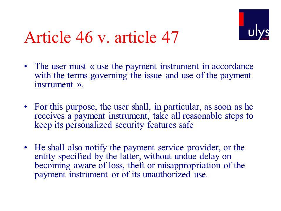 Article 46 v.