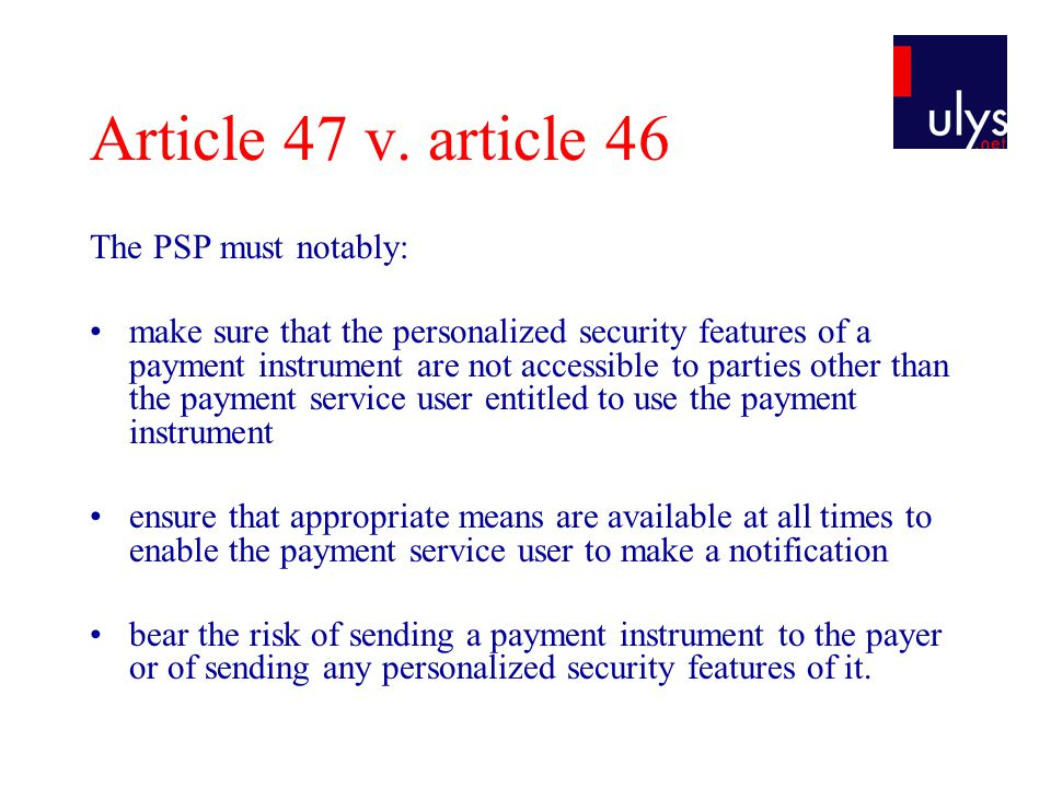 Article 47 v.