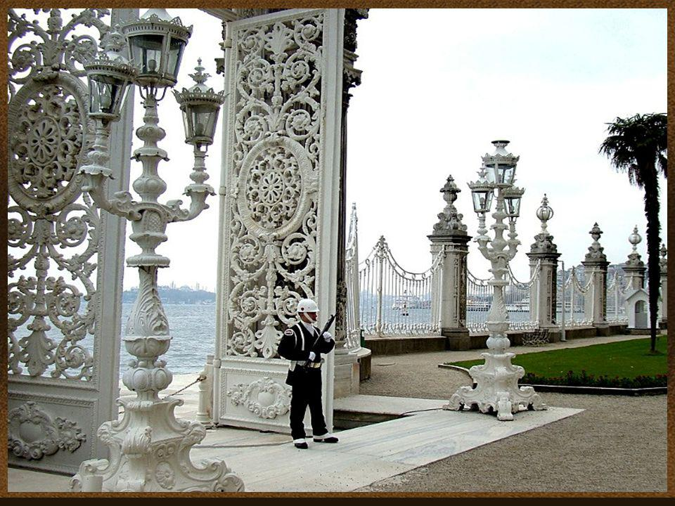 Dolmabahçe Palace in Istanbul, Turkey, located on the European side of Bosphorus, was the main administrative center of the Ottoman Empire. A law that