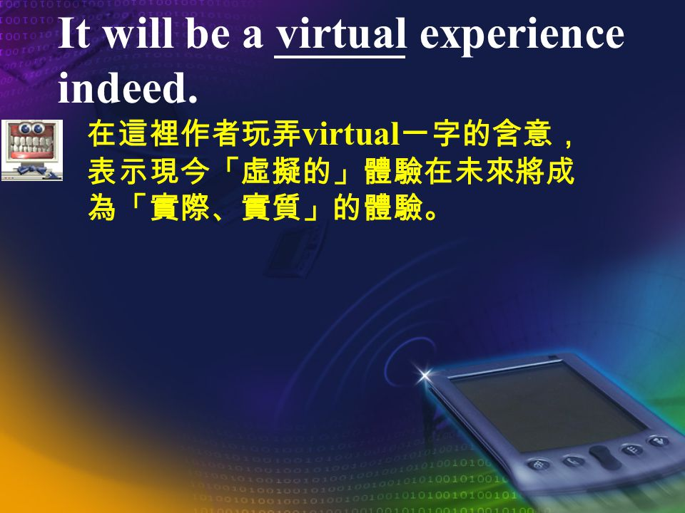 What is the next step? Possibly, it is a tactile medium. Perhaps, it will someday include olfactory sensation and taste.