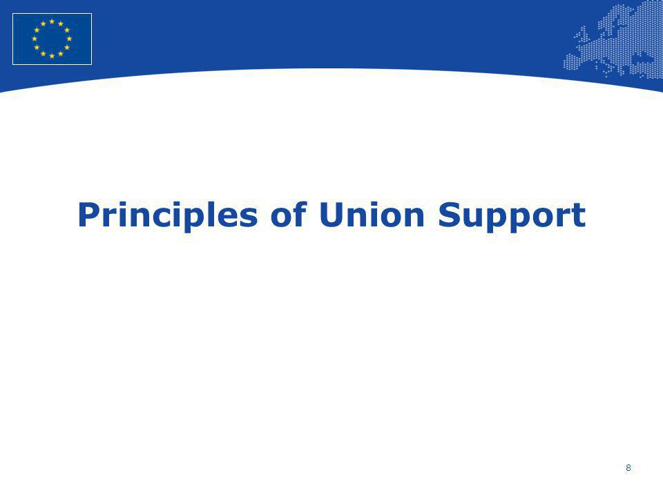 9 European Union Regional Policy – Employment, Social Affairs and Inclusion Common Principles for all Funds (1) Strengthening partnership and multi-level governance –Introduction of a binding European Code of conduct Sets out objectives and criteria to support the implementation of partnerships Facilitates sharing of information and good practices among Member States Compliance with Union and national law