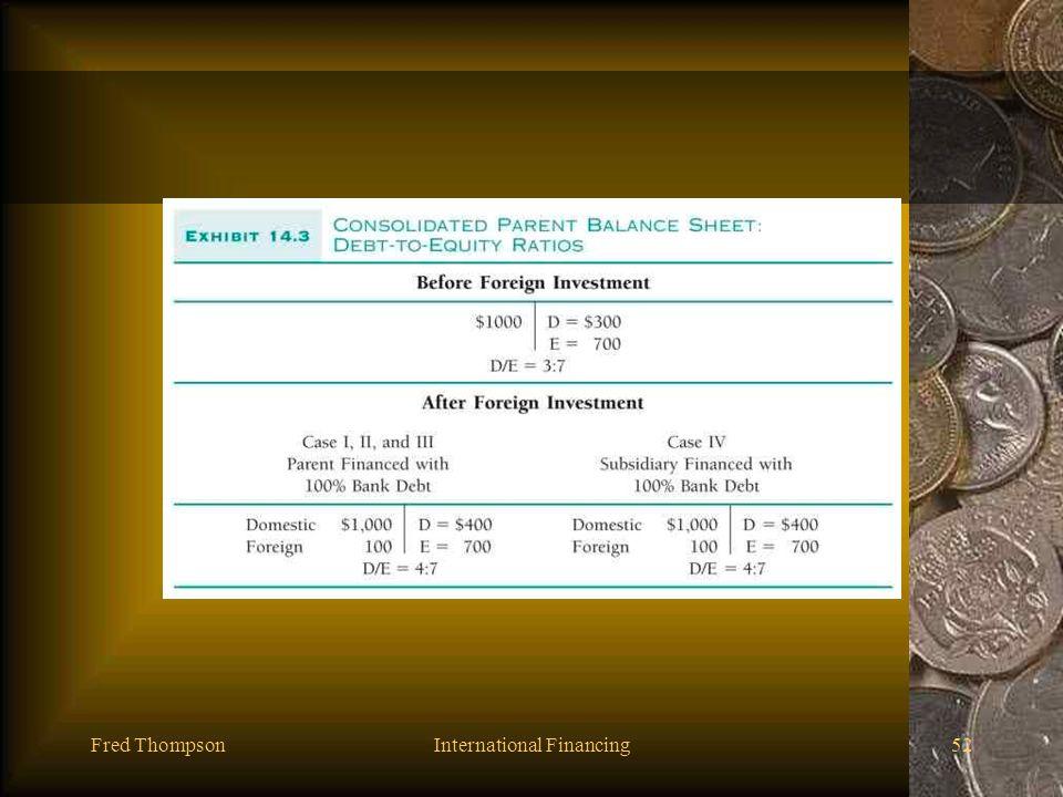 Fred ThompsonInternational Financing51