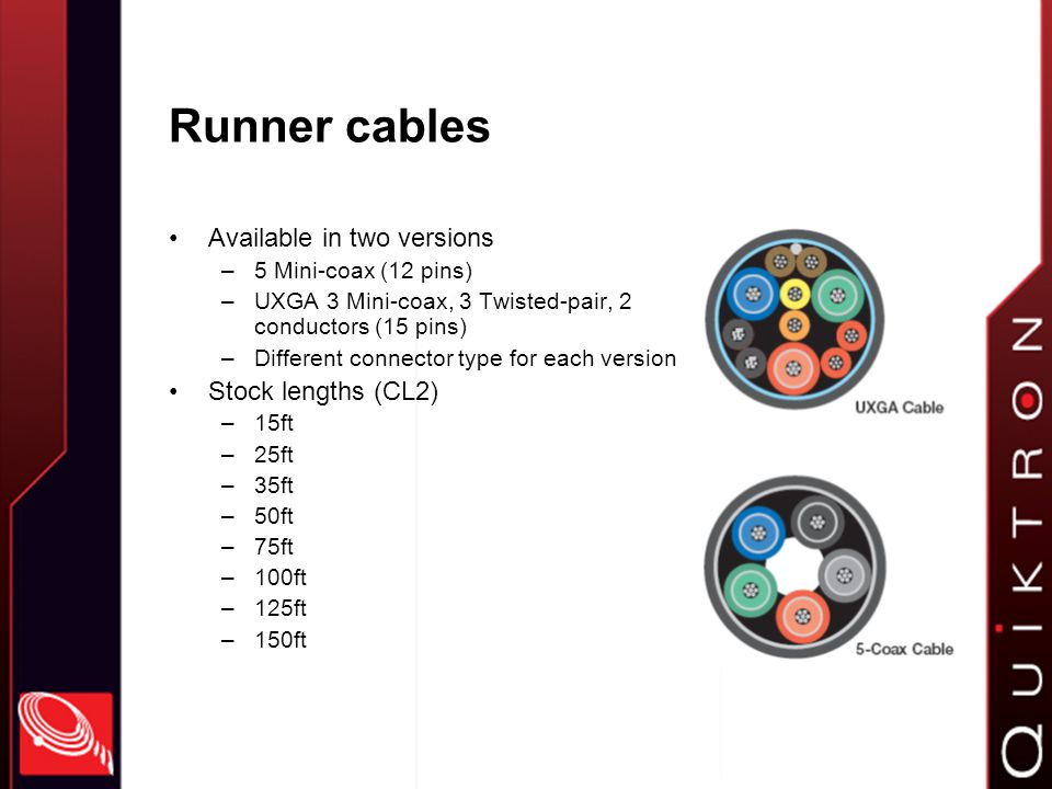 Which runner cable do I use.