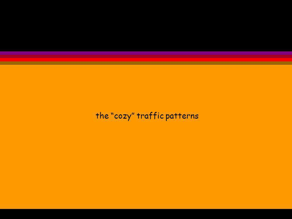 the cozy traffic patterns