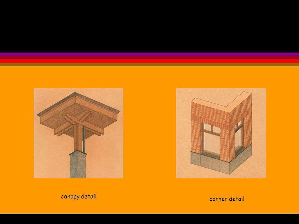 canopy detail corner detail