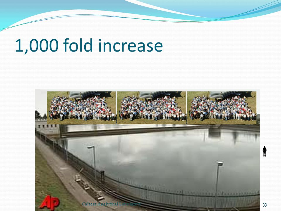 1,000 fold increase 33Caltest Analytical Laboratory