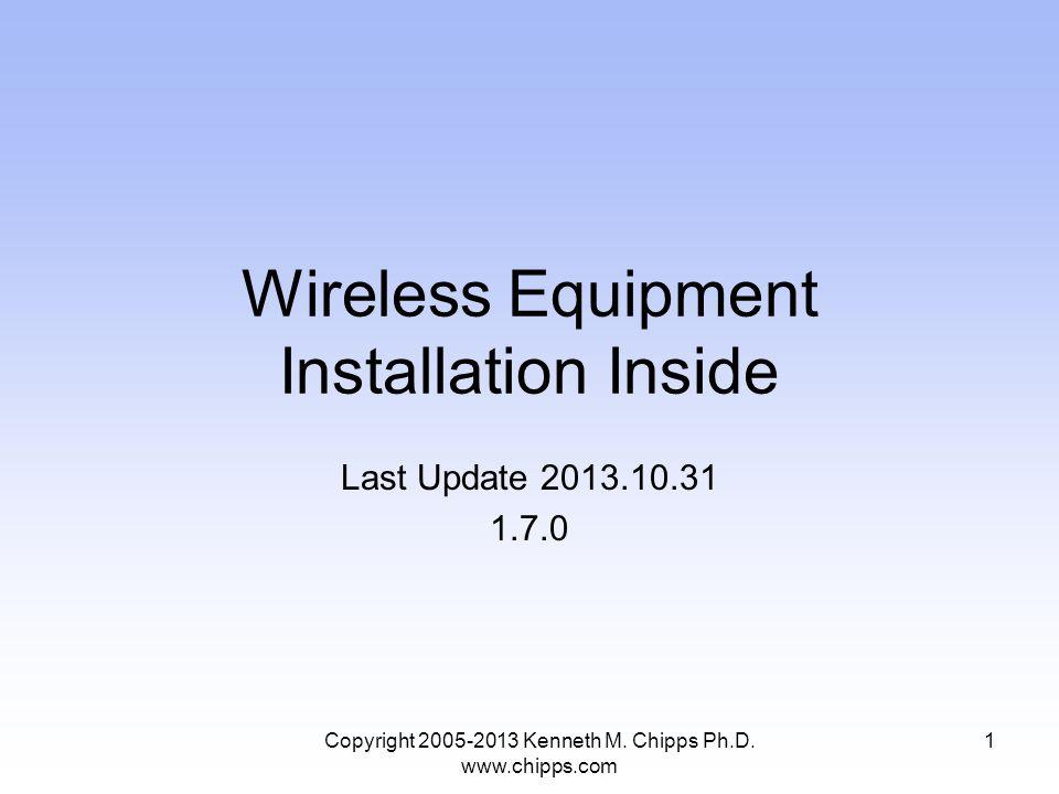 Bandwidth Considerations Copyright 2005-2013 Kenneth M. Chipps Ph.D. www.chipps.com 42