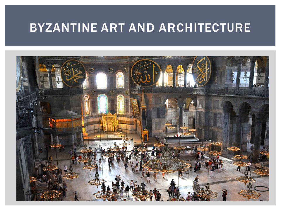 Questions: 6) What types of buildings were Byzantine Architects building.