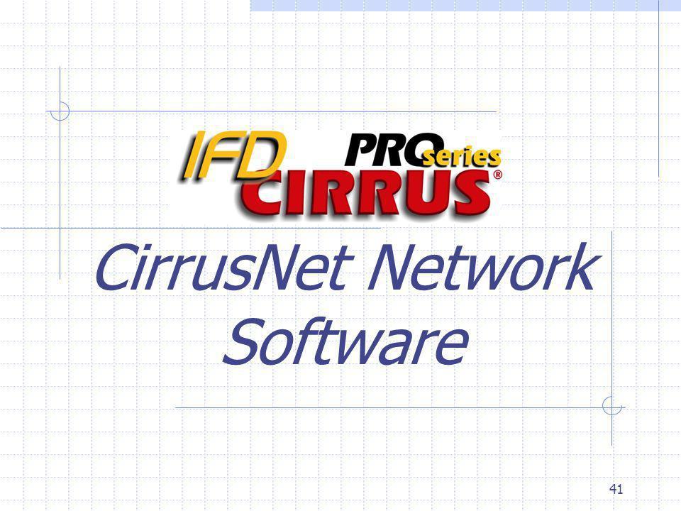 41 CirrusNet Network Software