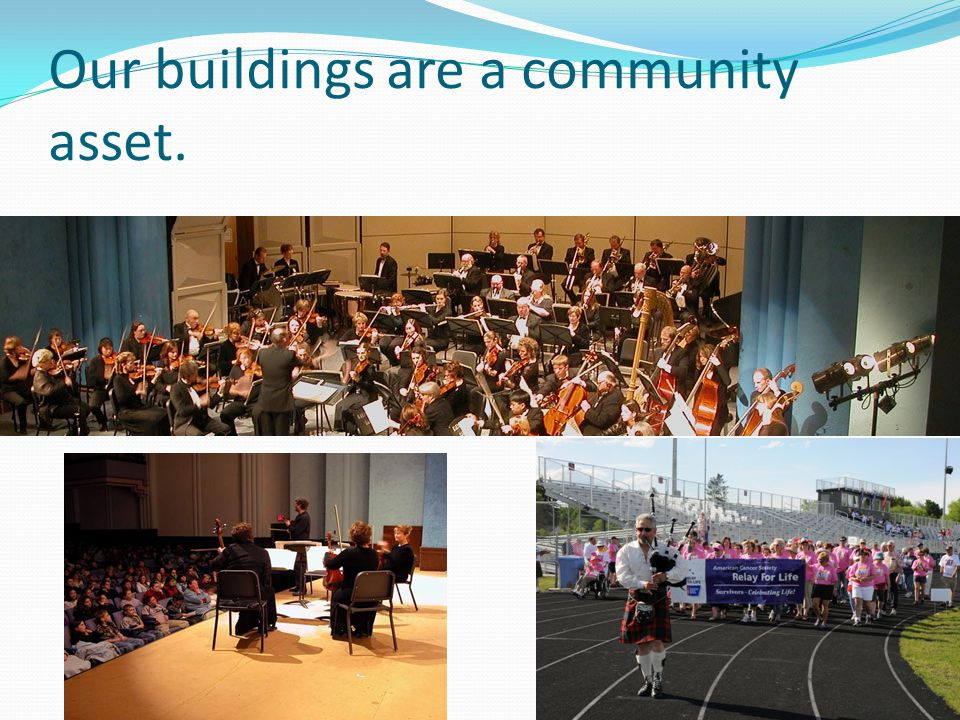 Our buildings are a community asset.