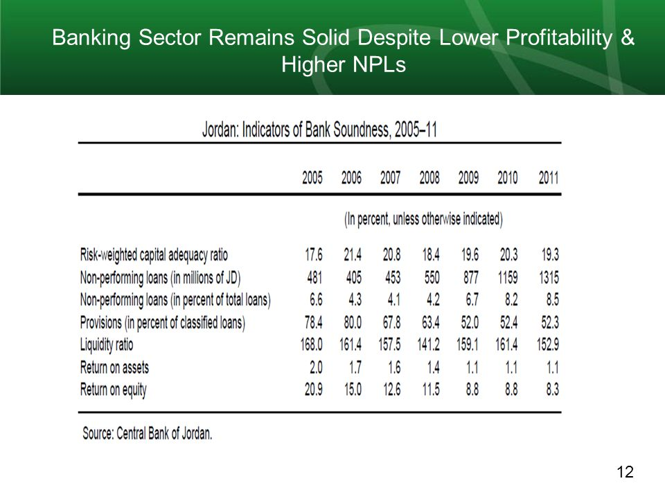 12 Banking Sector Remains Solid Despite Lower Profitability & Higher NPLs