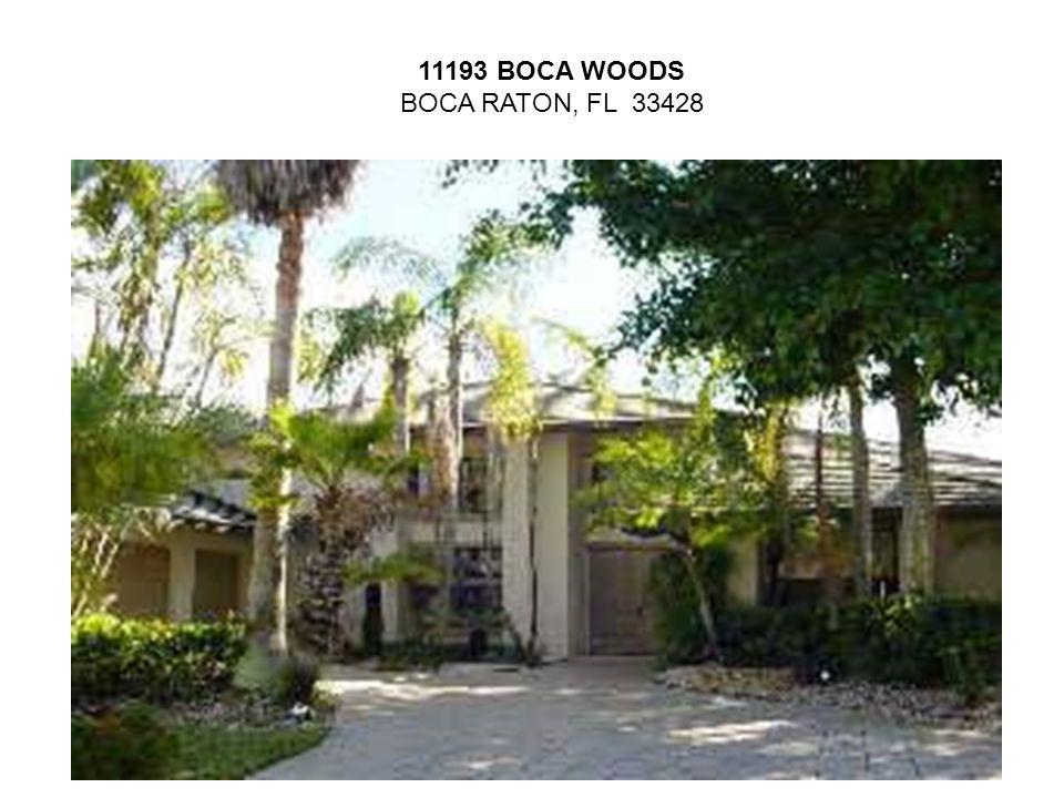 11193 BOCA WOODS BOCA RATON, FL 33428