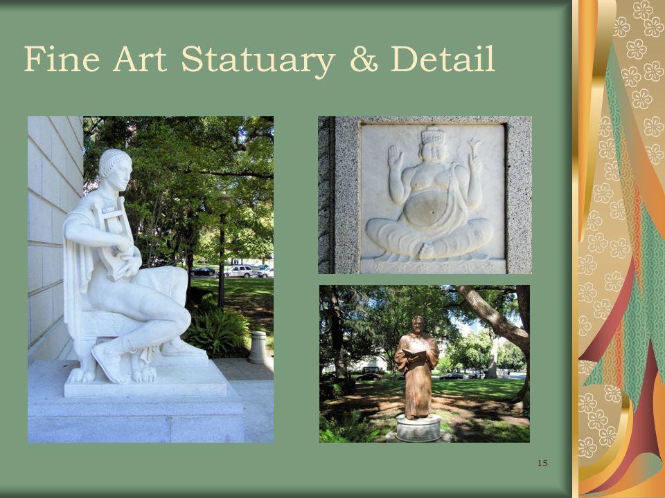 15 Fine Art Statuary & Detail