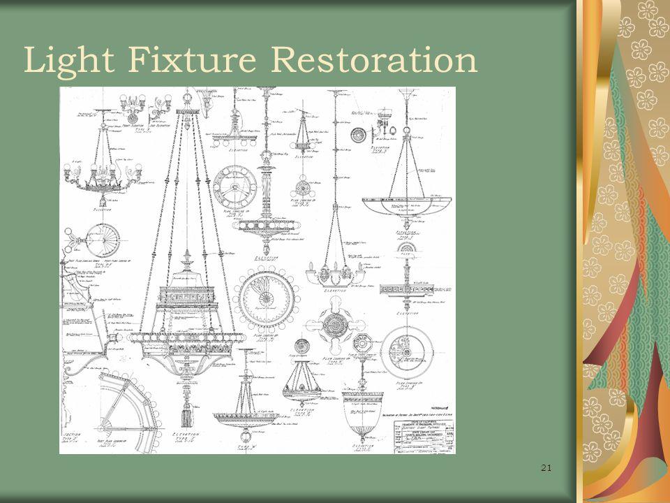 21 Light Fixture Restoration