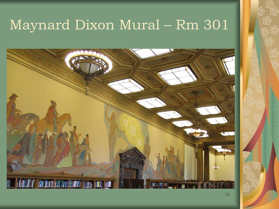 22 Maynard Dixon Mural – Rm 301