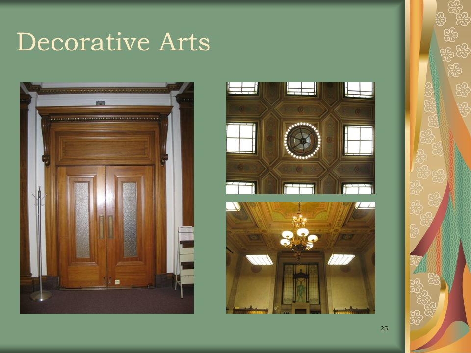 25 Decorative Arts
