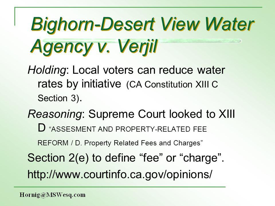 Bighorn-Desert View Water Agency v.