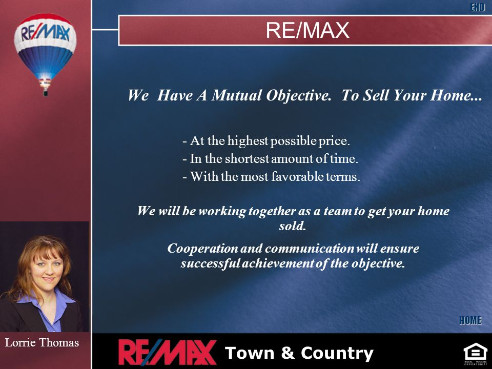 We Have A Mutual Objective. To Sell Your Home... - At the highest possible price.