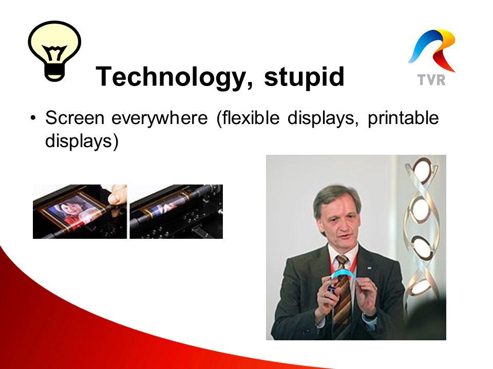 Screenless display (Free-space display, Virtual retinal display, Bionic contact lens) Technology, stupid