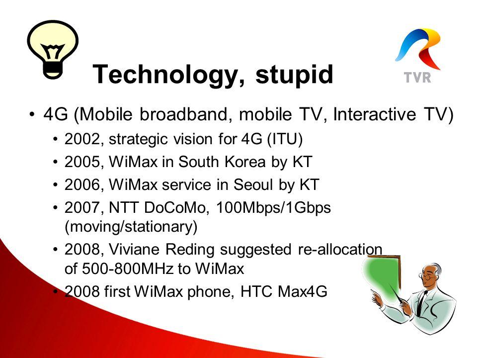 4G (Mobile broadband, mobile TV, Interactive TV) Technology, stupid