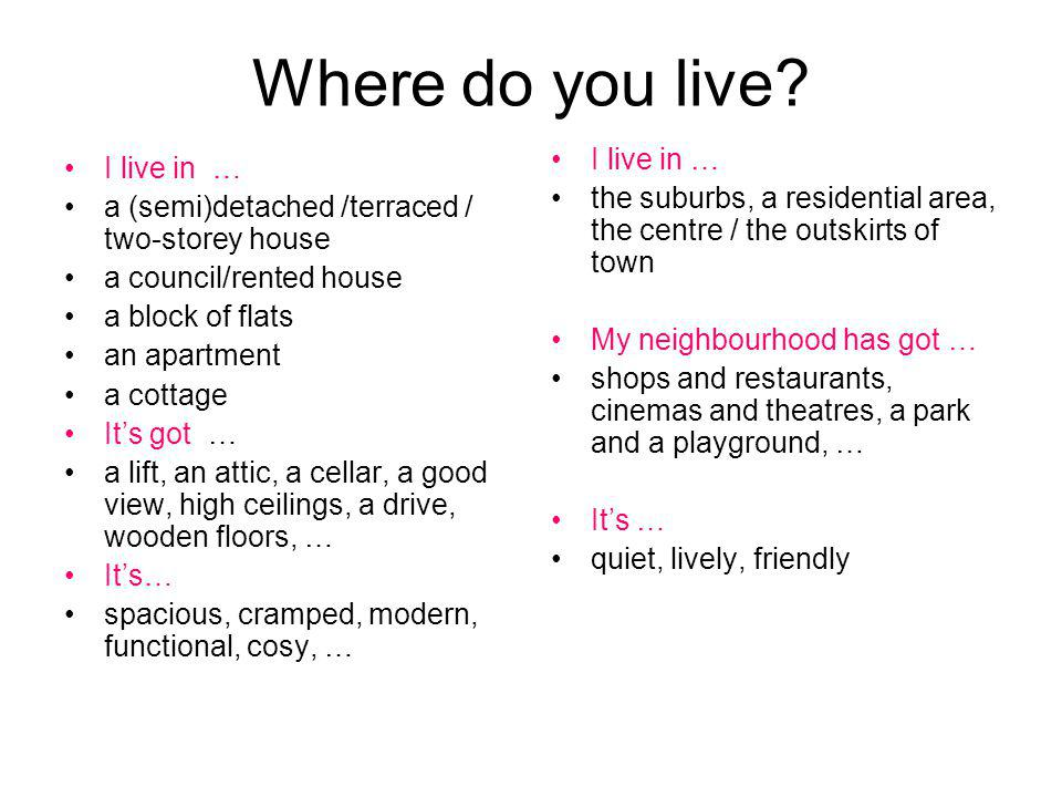 Lifestyle I prefer … country life / city life I have a/an …lifestyle hectic, quiet, exciting, boring, healthy, unhealthy, stressful I enjoy … staying in, clubbing, reading, sport